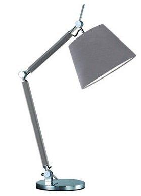 NOWOCZESNA LAMPA STOŁOWA NOCNA AZZARDO ZYTA S TABLE AZ2307+AZ2601 ALU/GR