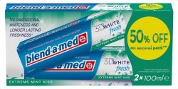 Blend-a-med 3D White Fresh Extreme Mint Kiss 2 x 100ml