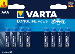 Baterie AAA / LR03 Varta Longlife Power 4903 (High Energy) - 8 sztuk