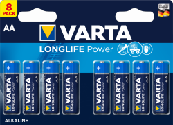 Bateria AA / LR6 Varta Longlife Power 4906 (High Energy) - 8 sztuk