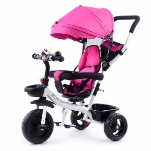 Rower trójkołowy wózek obracane siedzisko Pink Ecotoys