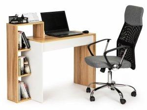 Biurko komputerowe biurowe stół +regał 4 półki