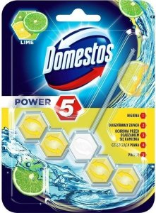 DOMESTOS Power 5 Kostka zapachowa do WC Lime 55g
