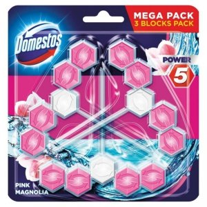 DOMESTOS Power 5 Kostka zapachowa do WC Pink 3x55g