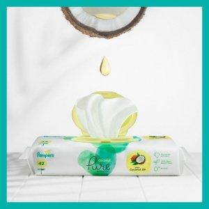 PAMPERS Chusteczki Nawilżające Coconut Pure 9x42szt