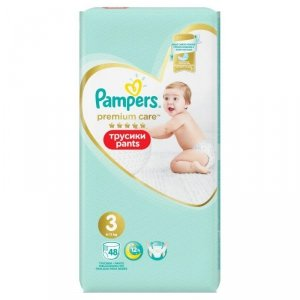 Pampers Premium Care Pants Pieluchomajtki Rozmiar 3, 6-11kg, 48szt