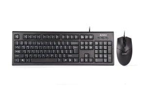 Zestaw klawiatura + mysz membranowa A4 TECH KR-85550 A4TKLA46009 (USB 2.0; (US); kolor czarny; optyczna)