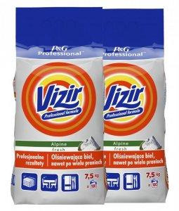 Zestaw - 2 x VIZIR Proszek do prania Regular 7,5kg