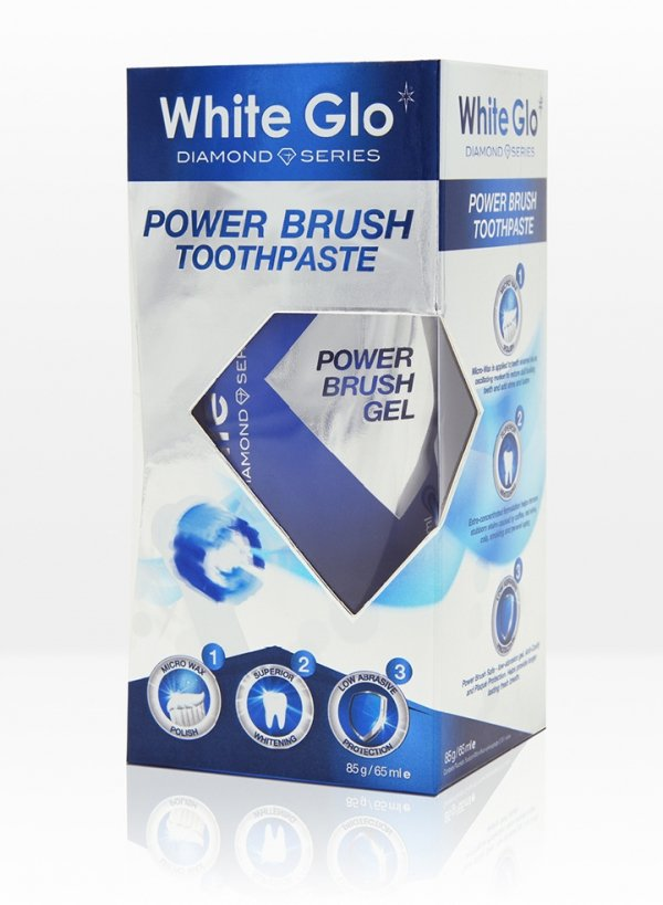 White Glo Diamond Series Power Brush Toothpaste - wybielająca pasta do mycia zębów do szczoteczek sonicznych, elektrycznych i ultradźwiękowych
