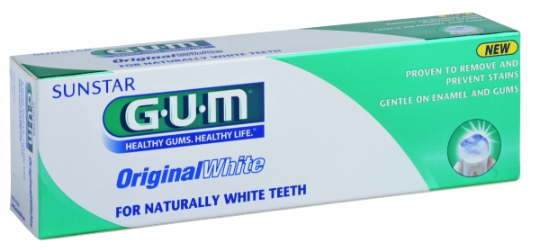 Pasta do wybielania zębów GUM Original White 75ml - producent Sunstar Gum USA