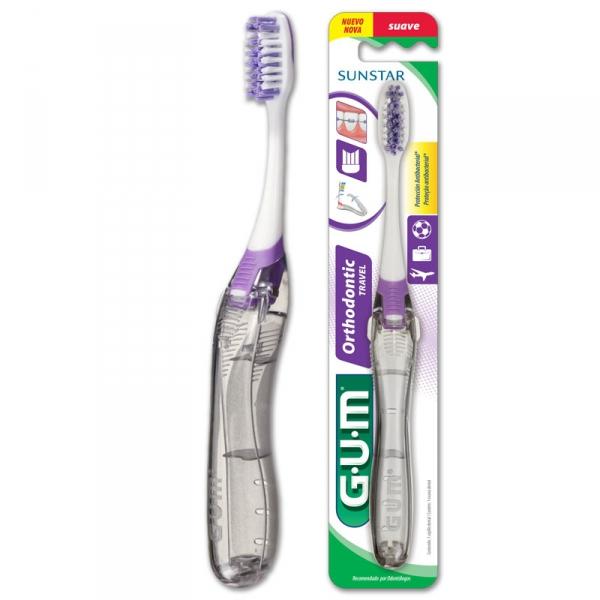 Szczoteczka ortodontyczna podróżna Sunstar GUM Ortho Travel - producent Sunstar Gum USA