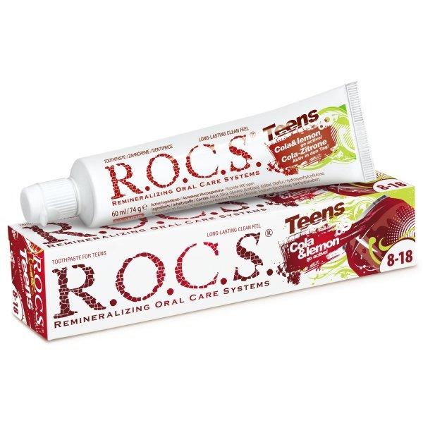 ROCS Teens Cola z Cytryną - Pasta o smaku Coca Coli dla młodzieży 60ml
