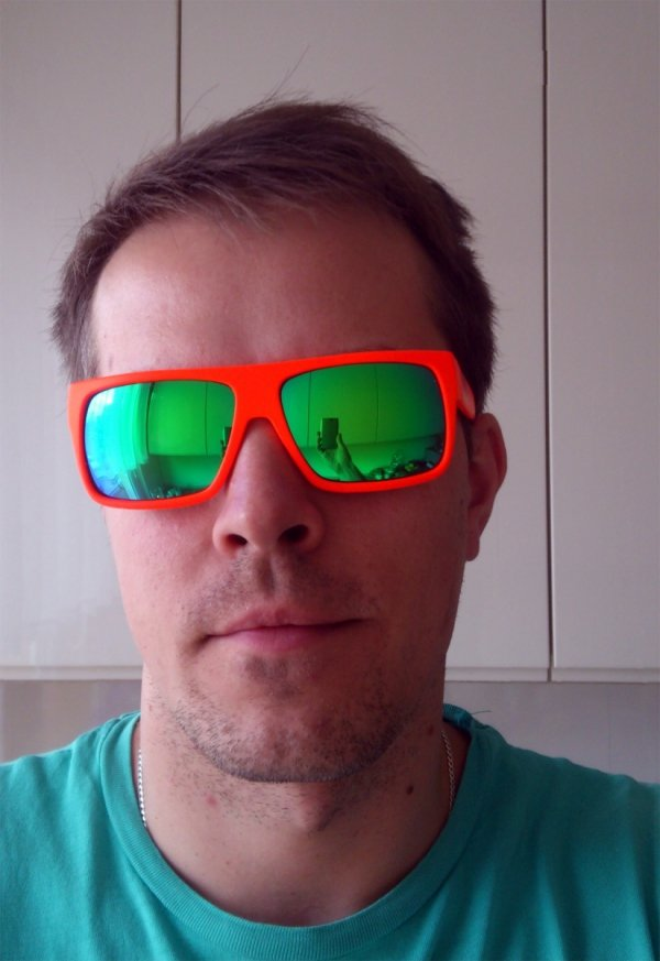 Okulary  Neon Ride (white/green)