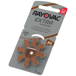 7+1 baterie do aparatów słuchowych Rayovac Extra Advanced 312 MF