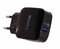 NAJSZYBSZA ŁADOWARKA SIECIOWA QUALCOMM QUICK CHARGER 3.0 USB 3,0