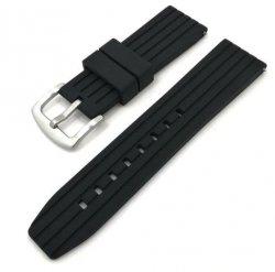 Pasek silikonowy uniwersalny do zegarka 22mm czarny