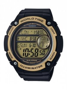 MĘSKI ZEGAREK CASIO AE-3000W 9AV 100M WORLD TIME