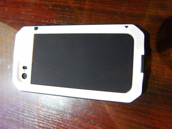 Obudowa biała pancerna GORILLA GLASS iphone 5, 5s SE