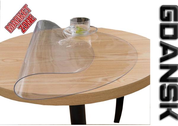 Elastyczna okrągła podkladka mata stol biurko