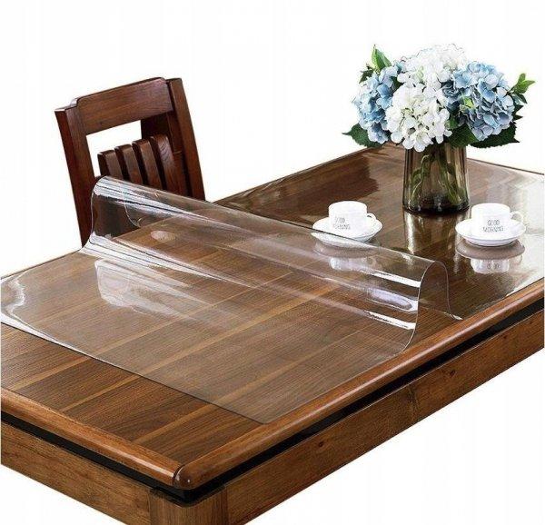Elastyczna podkładka mata obrus cerata na stół biurko komodę meble jadalnia kuchnia twój wymiar do 160x90