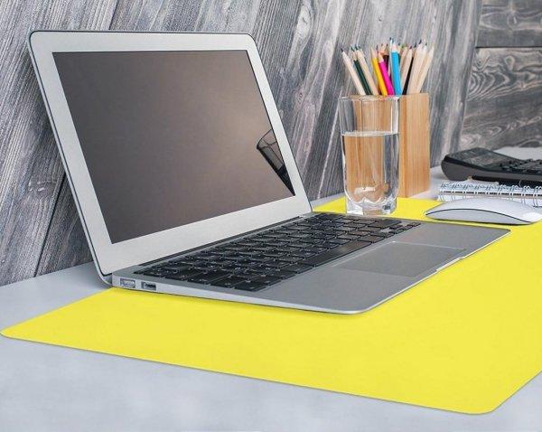 Podkładka na biurko stolik kolor 65x50 żółta Gdańsk