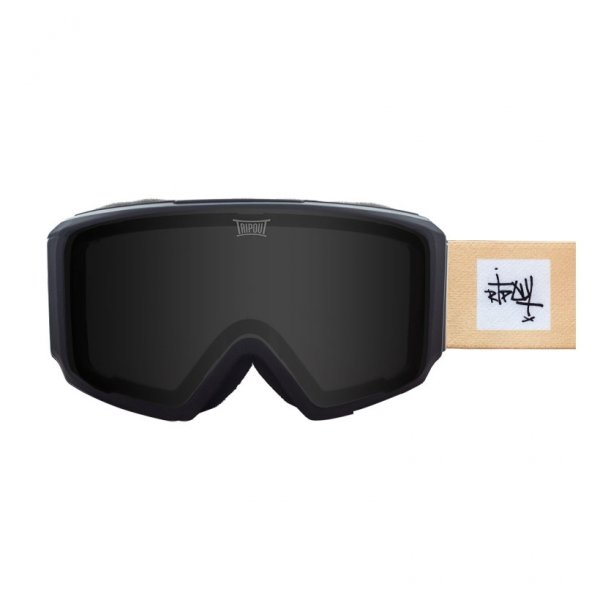 gogle tripout blaze dot black z szybką black polarized