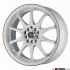 Drag Wheels DR9 White with Red 17x7 4x100/114,3 ET40
