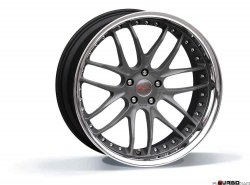Breyton RACE GTR 9,0x22 5x120 Matt Gun Metal / Matt Black with stainless steel lip