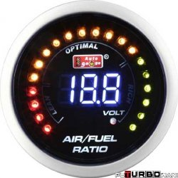 Auto Gauge LCD - AFR Air to Fuel Ratio + Sonda szerokopasmowa Bosch
