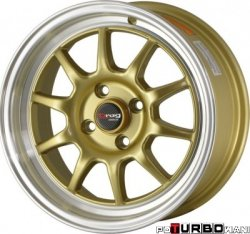 Drag Wheels DR16 Gold 15x8,25 4x100 ET25