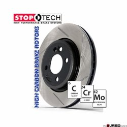 StopTech 126 Hi-Carbon Slotted tarcza hamulcowa BMW 126.34015SR