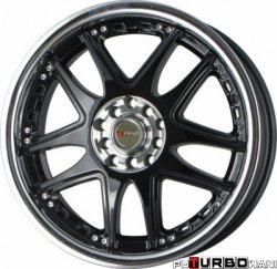 Drag Wheels DR14 Gloss Black 17x7 5x100/114,3 ET40