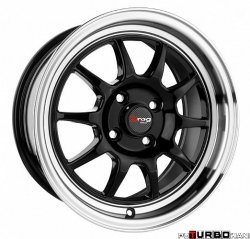 Drag Wheels DR16 Gloss Black 16x7 4x100 ET40