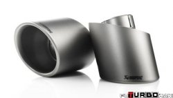 AKRAPOVIC Tail pipe set (Titanium, fits on stock exhaust)  Volkswagen Golf (VI) TSI 1,4 (118KW) 2008-2012