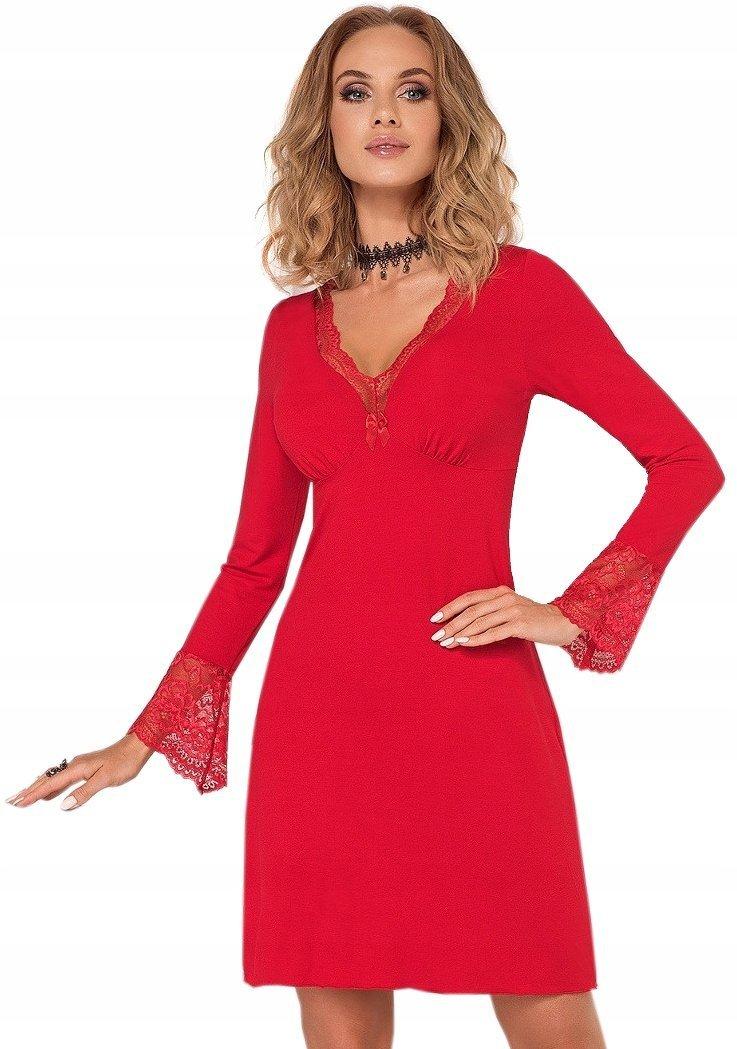 2dc2eb3515 DONNA Zmysłowa Koszulka Nocna STELLA II red - Bielizna damska ...