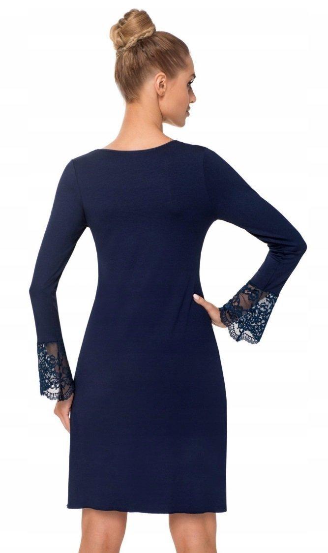 72cc260862 DONNA Zmysłowa Koszulka Nocna STELLA II dark blue - Bielizna damska ...