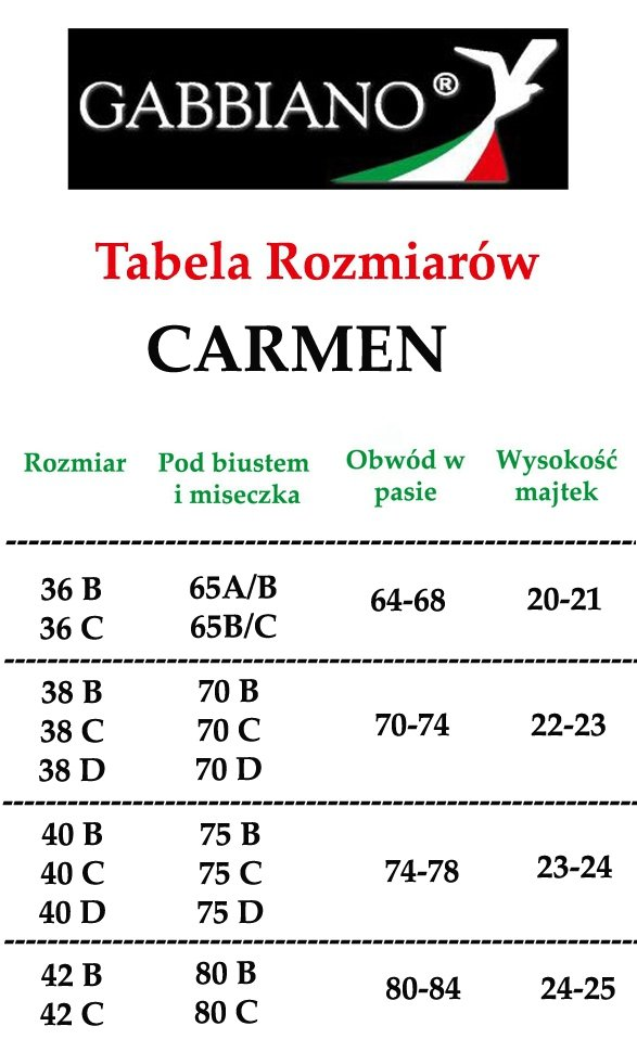 Siwiec GABBIANO Bikini Carmen 01 Czarny R: