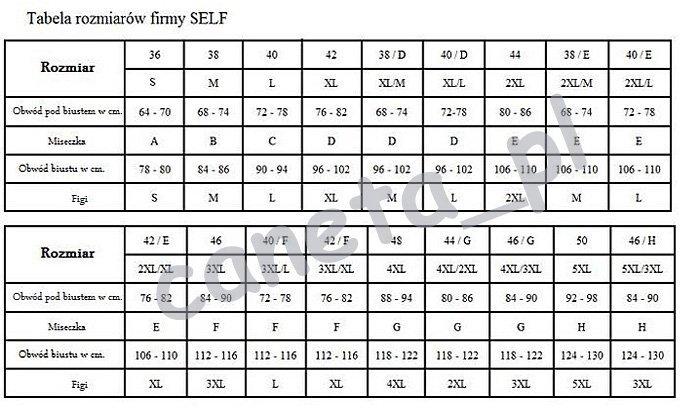 SELF Kostium kąpielowy S1023 v19 Czarny R: