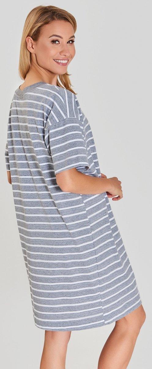 MUZZY Koszula nocna Serce - paski 2 R: