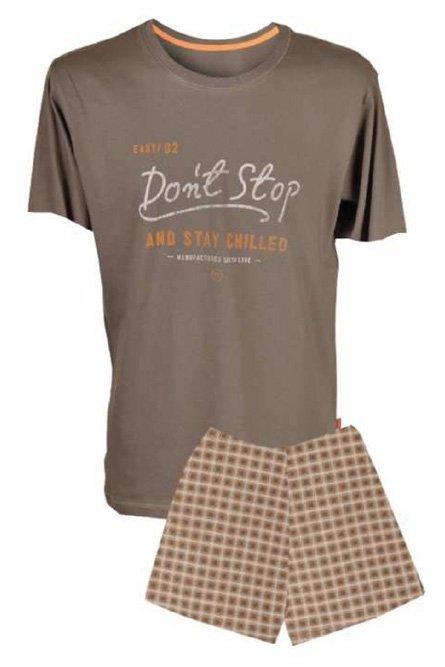 MUZZY! Piżama Don't Stop kr. Popiel-Brąz  R: