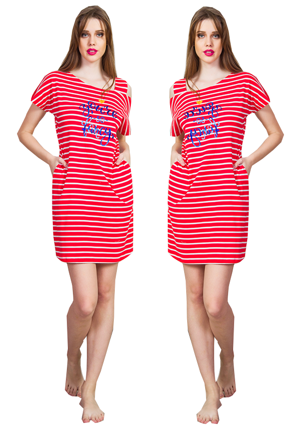 VIENETTA Koszula nocna STAY czerwona R: