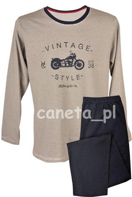 MUZZY! Bawełniana Piżama MĘSKA Vintage Dł. R: