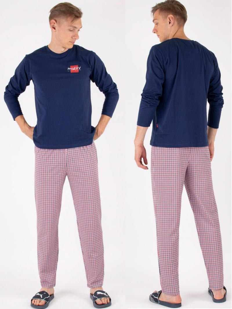 MUZZY  Piżama MĘSKA DŁ. Nightwear R: