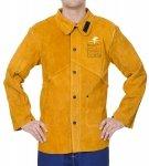 WELDAS-Golden Brown™ skórzana kurtka spawalnicza z dwoiny bydlęcej z plecami z trudnopalnej bawełny 44-2530P L