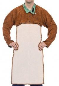 WELDAS-Lava Brown™ skórzana, spawalnicza ochrona ramion i barków (bolerko) z dwoiny bydlęcej 44-7800 M, L, XL