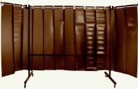 Parawan spawalniczy z lamelami REGULAR 3700x1900 mm (2100 x 1900 mm z ramionami 800 mm)