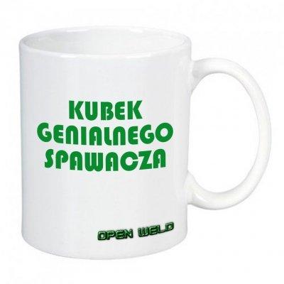 Kubek ceramiczny biały - GENIALNY