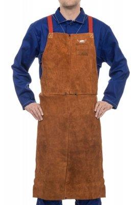 WELDAS-Lava Brown™ skórzany fartuch spawalniczy z dwoiny bydlęcej 44-7136