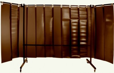 Parawan spawalniczy z lamelami REGULAR 3600x1900 mm (2100 x 1900 mm z ramionami)