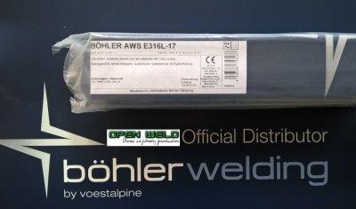Elektroda BOHLER AWS E 316L-17 3,2x350 (4,5 kg.)